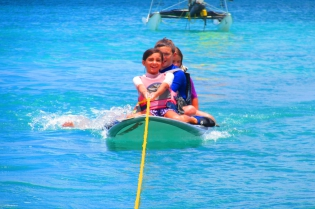 Wildwind sailing mauritius kids water skiing